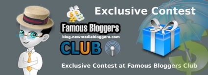 Famous Bloggers Club first $345 contest